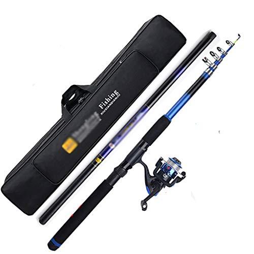 Nostalgie Barra de Pescar y Carrete Telescópicas Kit Completo 12 Rodamientos 5000 Carrete de Pesca Pesca Bolsa de Pesca para Agua Salada Pesca de Agua Dulce (tamaño : 3.6m)