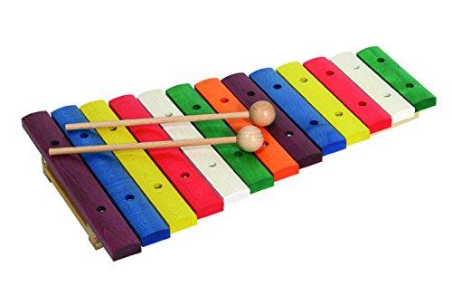 Goldon 11205 - Xylophon Holz 13 farbige Klangplatten