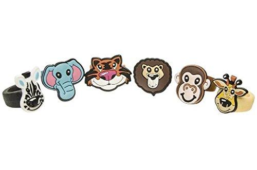 Schnooridoo 12 Softringe - Wilde Tiere - Kinderring Soft Ring Kindergeburtstag Give Away
