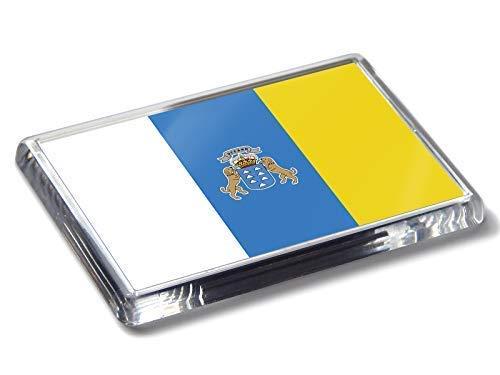 Bandera de Las Islas Canarias Colores Nacionales Fuerte acrílico imán para Nevera decoración del hogar
