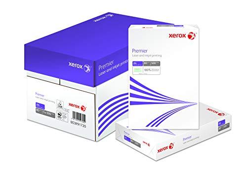 Xerox 003R91720 Premier Kopier-/Drucker-/Universalpapier, DIN A4, 80 g/m², Karton mit 5 Pack a 500 Blatt, weiß