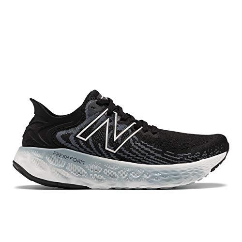 New Balance Women's Fresh Foam 1080 V11 Running Shoe, Black/Thunder, 8 Wide