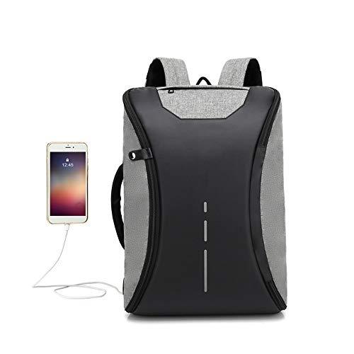 Lepeuxi Multi-functional Backpack Schoolbag Laptop Backpack Computer Bag Water-resistant Outdoor Travel Backpack with External USB Charging Port for Men