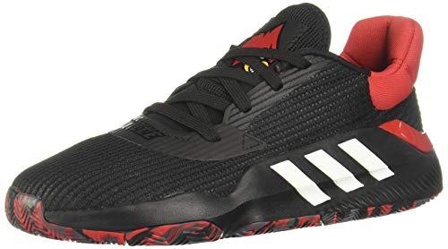 Adidas Pro Bounce 2019 Low, Zapatillas de Baloncesto Hombre, Multicolor (Negbás/Escarl/Gricin 000), 39 1/3 EU