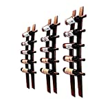 CMDREAM Barrel Stave Wine Rack, Wall Mounted Wood Wine Rack, Wine Bottle Holder Towel Rack, 6 Wine Bottle Rack Holder Shelf Rustic Wood Wall Wine Rack (Red Wine Rack)