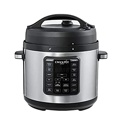 Crock-Pot Express Easy Release | 6 Quart Slow, Pressure, Multi Cooker, 6QT, Stainless Steel