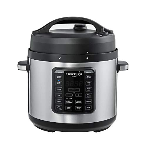 Crock-Pot 2100467 Express Easy release 6 Quart Slow, Pressure, Multi-Cooker. 6 Qt, Stainless Steel