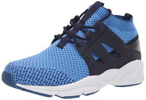 Propet Women's Stability Strider Sneaker, Blue/Grey, 6