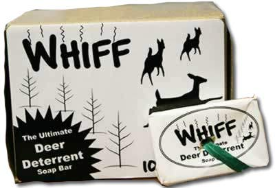 WHIFF Deer Repellent Orchard Soap Bar All Natural Deer Repellent to Stop Deer Eating Plants 10 Count