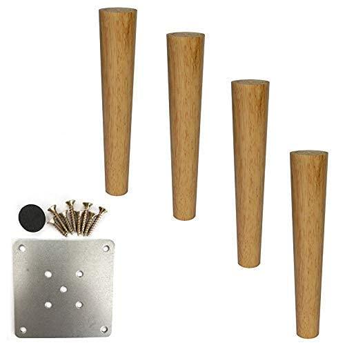 WYBW Pies de soporte para muebles, 4 juegos de patas de muebles de madera maciza/Pies de soporte para gabinetes/Accesorios para muebles de madera/Para guardarropas, mesitas de noche, zapateros,