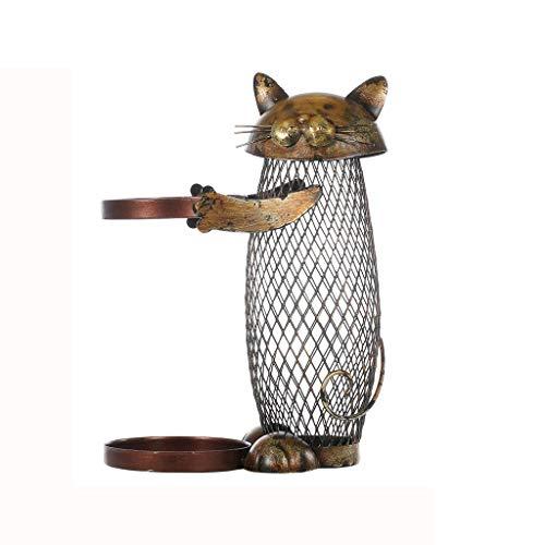 Juegos de accesorios de baño Estante del vino Botellero gato Cork titular de contenedores de botella de vino en rack de cocina barra de metal de vino artesanal de Navidad del regalo del vino Juegos de