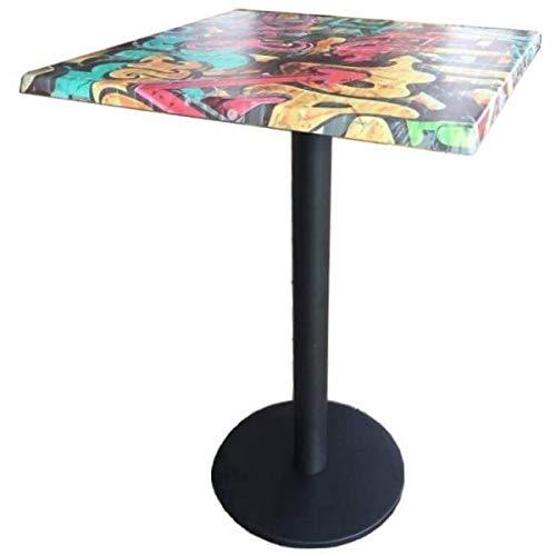 MATHI DESIGN Graffiti - Table Haute carrée 70 cm