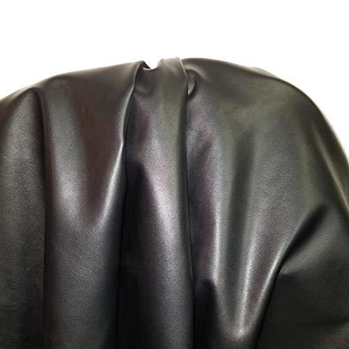 NAT Leathers   Black Calf Omega Soft Faux Vegan Leather PU {Peta...