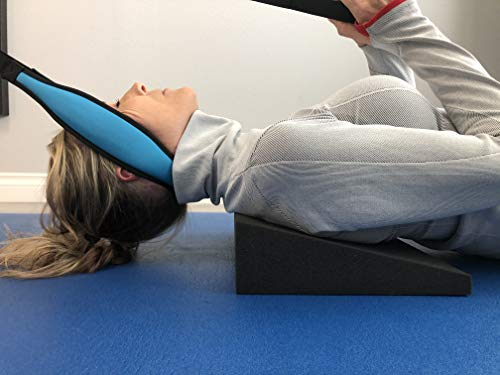 Fisher Traction Shoulder Wedge for Neck Decompression and Spinal Alignment, Relaxes Neck and Back for Pain Support and Pressure Relief