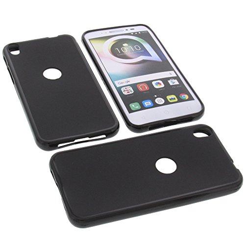 foto-kontor Tasche für Alcatel Shine Lite Gummi TPU Schutz Handytasche schwarz