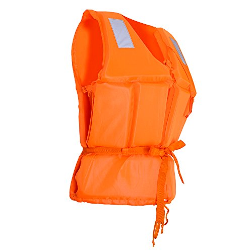 Meanhoo Life Jacket for Adults - with Whistle - Kayak Fishing Life Vest for Swimming, Surfing, Orange