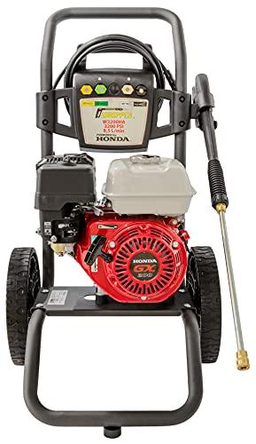✦ Hidrolimpiadora de Gasolina Honda GX 200 - 3200 PSI ✦ 196cc con Potencia de Alta presión Jet Hidrolimpiadora Profesional W3200HA portátil Limpiadora para Autos y Patios