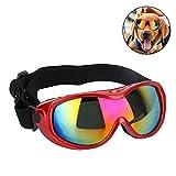 Pssopp Hunde Sonnenbrille Winddicht UV Schutz Hundebrille UV Schutzbrille mit