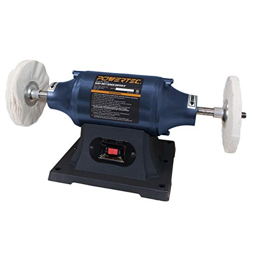 POWERTEC BF600 Heavy Duty Bench Buffer, 6-Inch
