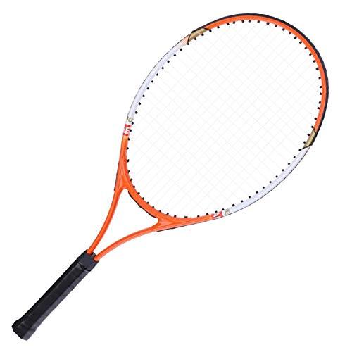 Bediffer Raquetas de tenis para adultos, paquete de 2, raqueta de tenis de aleación de aluminio, duradera, alta elasticidad, antioxidante para tenis (naranja)