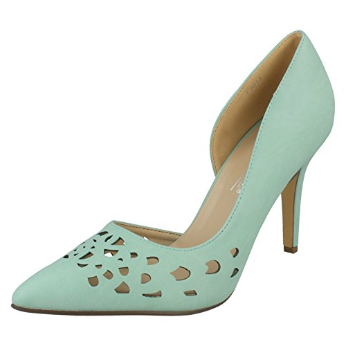 Anne Michelle Damen spitz zulaufende Schuhe, Grün - mintgrün - Größe: 39 EU