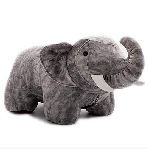 Petit Banc en Bois Tabouret Créatif pour Petits Animaux Tabouret Éléphant Cartoon Tabouret De Salon Canapé Tabouret Cartoon De Table Basse (Color : Gray)