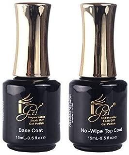 IGEL Impeccable Soak Off Gel No-Wipe Top Coat + Base Coat 0.5 oz