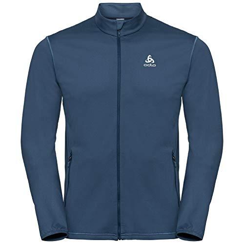 Odlo ALAGNA Sweat Zippè Homme, Ensign Blue, FR : S (Taille Fabricant : S)