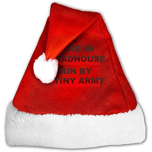 Weihnachtsmützen,Weihnachtliche Mütze,Rote Santa Mütze,Rot Weihnachten Hüte,Ich Lebe In Einem Irrenhaus,Das Von Einer Winzigen Rot-Weißen Kopfbedeckung Der Armee,Weihnachtsfeiertags-Hut,Weihnachtsko S