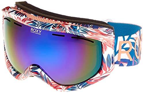 Roxy Sunset Art Series-Snowboard/Esquí Máscara para Mujer, Bright White Bright Palm, 1SZ