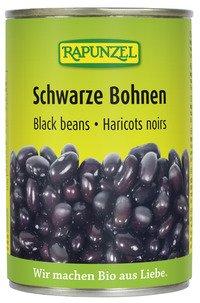 Rapunzel Bio Schwarze Bohnen in der Dose, 4er Pack (4 x 400g) - BIO