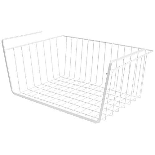 MHD 吊り下げ棚 吊り下げラック 棚吊り 戸棚下ラック キッチン収納 41×26×19cm 荷重5kg ホワイト MHD-ZLJ01