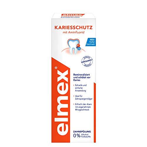 elmex Zahnspülung Kariesschutz, 400 ml - Mundspülung schützt effektiv vor Karies, ohne Alkohol