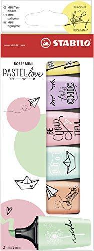 Evidenziatore - STABILO BOSS MINI Pastellove - Confezione da 6 - Colori assortiti