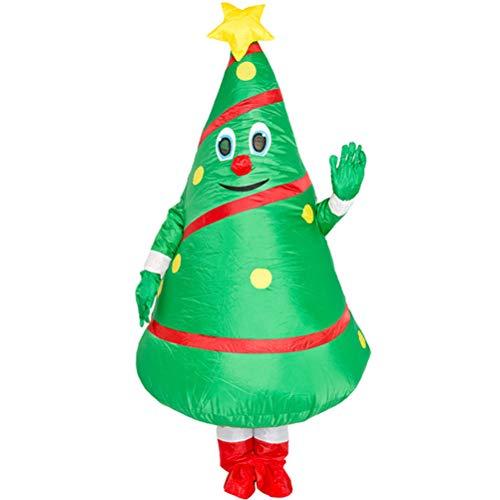 HERAHQ Costume Albero Di Natale Gonfiabile Di Natale Decorazione Adulti Blow Up Suit Halloween Party Cosplay Della Mascotte