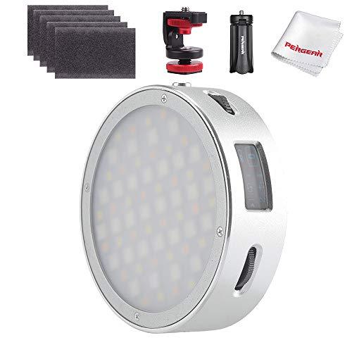 Godox R1 Rundes Vollfarben-RGB-LED-Videolicht, CRI 98 TLCI 97 Genaue Farbe, 2500K-8500K einstellbar, 14 FX-Lichteffekte, Kreativer Musikmodus, OLED-Display, magnetische Schnellinstallation
