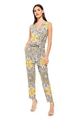 Comma Womens 81.006.85.2506 Overall 3/4 Jumpsuit, 81f0, 40