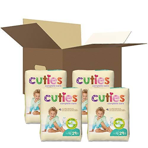 Cuties Complete Care Baby Diapers, Size 4, 116 Count