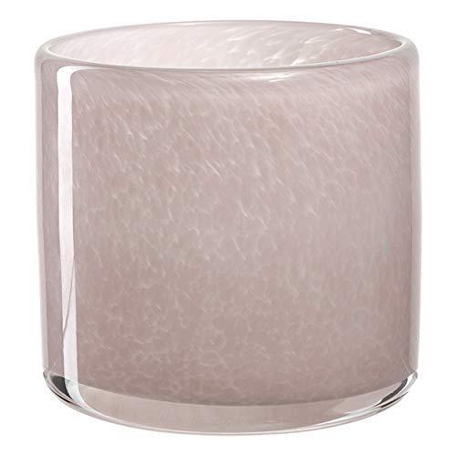 Leonardo Tischlicht MILANO, Teelichthalter, Dekolicht, Kalk-Natron Glas, Rose, 8 cm, 038523