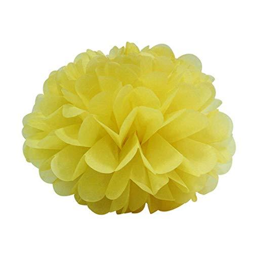 5st 6 '' - 12 '' tissuepapier pompons bruiloft decoratieve papieren bloemen bal baby shower verjaardagsfeestje decoratie papier pom poms, geel, 30cm 12inch