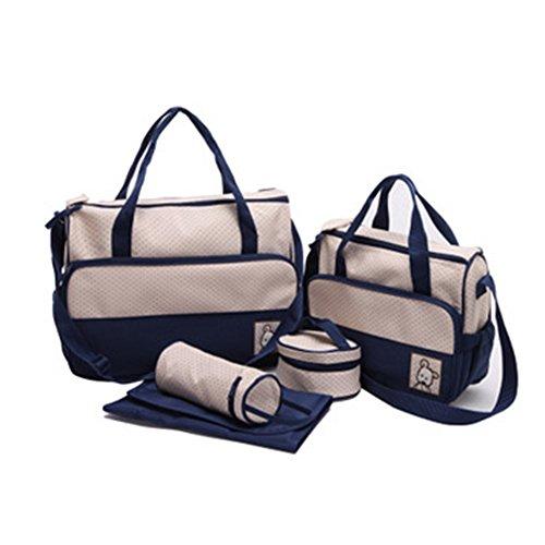 Gladiolus Wasserdichte Wickeltasche Windel Wickeltasche Schwangerschaft Multifunktionale Mama Handtasche Pflegetasche Set Blau