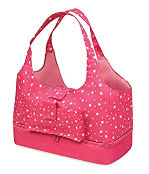 Badger Basket On-The-Go Doll Tote and Storage Purse for 18 inch Dolls- Pink/Star