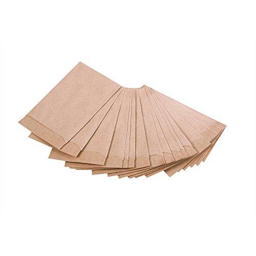 50 bruine kleine papieren zakjes mini-zakjes papieren zakjes 5,3 x 7,8 cm verpakking kleine onderdelen bolletjes tabletten bloemenzaden pillen sterren knutselen kerst give-away cadeautje