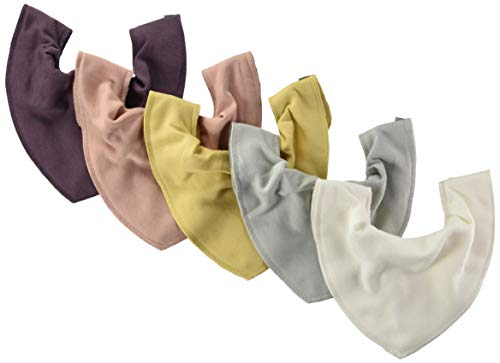 PIPPI Unisex Baby Bandana bib - solid Halstuch, 5er Pack, Misty rose, One size