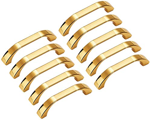 10 pomos modernos de oro para puertas, decoración de