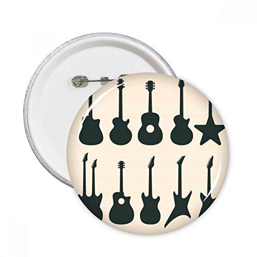 DIYthinker Guitarra eléctrica Música vitalidad Suena regalo Botón redondo botones Badge Ropa...