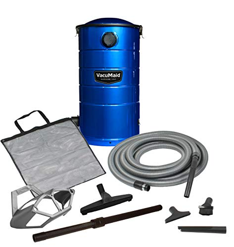 Review Of VacuMaid GV50B Wall Mounted Garage and Car Vacuum with 50 ft hose and Tools