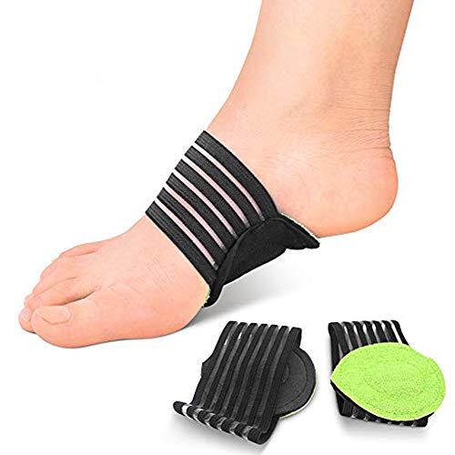 Fußgewölbe Bandage Elastische Fußbandagen, Einlegesohlen Fuß Schutz Bogen Unterstützung Orthotics Auflage für Plantarfasziitis, Plattfüße, Vorfuß Schmerzlinderung, für Damen und Herren