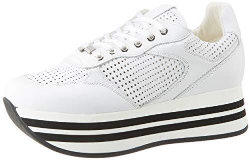 Frau Sneakers, Sneaker Donna, Bianco (Bianco Bianco), 37 EU