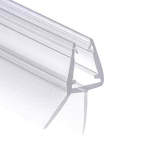 Wellba Premium Duschtür Dichtung (1x 80cm) für 6mm 7mm 8mm Glastür Stärken | Wasserabweisende Duschdichtung oder Duschkabinen-Dichtung mit optimal angeordneten Gummilippen